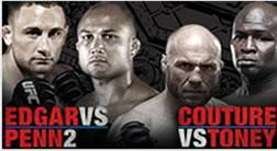 BJ Penn vs Edgar / Toney vs Couture UFC 118
