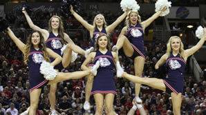 hot college march madness cheerleaders