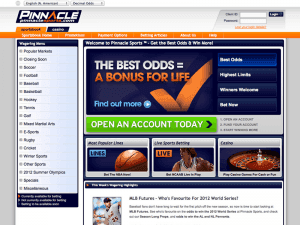 pinnacle sports home page